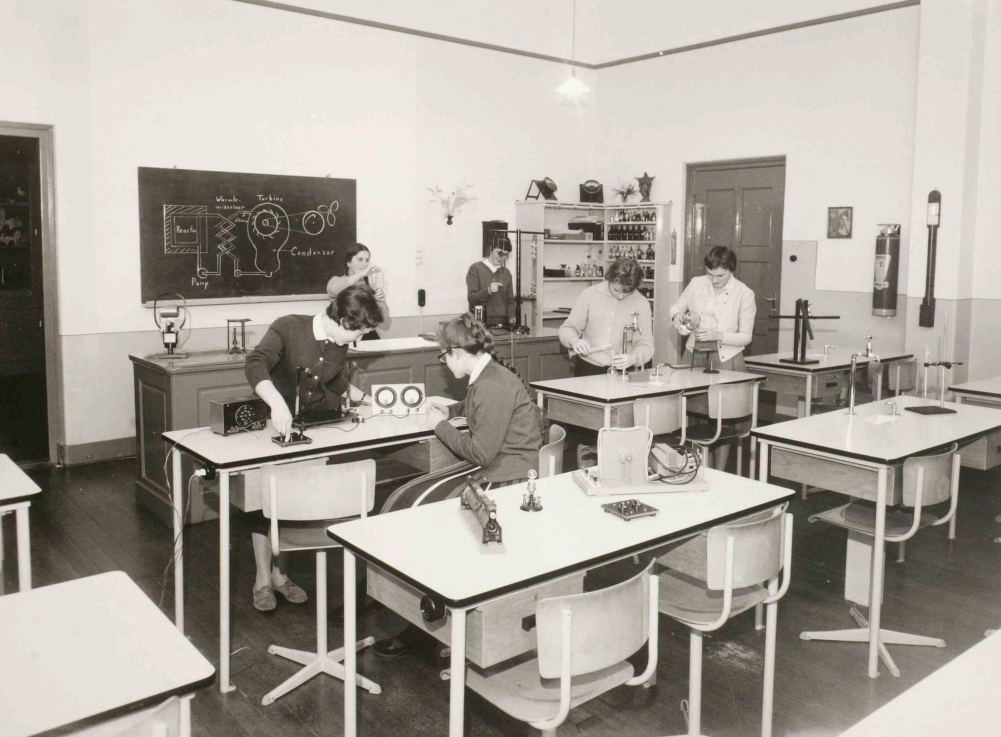 Natuurkunde lokaal kweekschool